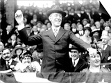 President Woodrow Wilson Throwing Out the First Ball, Opening Day, 1916 Poster