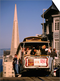 Cable Car on Nob Hill with Transamerica Building in Background, San Francisco, U.S.A. Prints by Thomas Winz