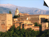 Alhambra from Albaicin, Granada, Andalucia, Spain Posters by John Elk III