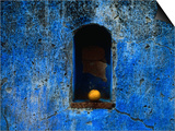 The Weathered Blue Facade to Santa Maria Tonantzintla,Puebla, Mexico Posters by Jeffrey Becom