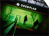 Passengers Entering Odenplan Metro Train Station, Stockholm, Sweden Poster by Martin Lladó