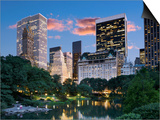 Central Park South at Night Prints by Jean-pierre Lescourret