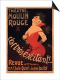 1911 Moulin Rouge C'est Très Excitant Art by Jules-Alexandre Grün