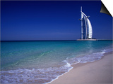 The Burj Al Arab or the Arabian Tower of the Jumeirah Beach Resort, Dubai, United Arab Emirates Posters by Neil Setchfield
