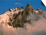 Les Ecrins National Park, La Meije Highest Peak in Park, France Prints by John Elk III