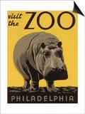 Vieraile Philadelphian eläintarhassa Julisteet