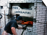 Lombardi's Pizza, Little Italy, New York City, New York Art by Dan Herrick