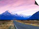 Early Morning of Mount Cook and Other High Peaks of Southern Alps, New Zealand Art by Ross Barnett