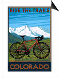Mountain Bike - Colorado Prints by  Lantern Press