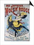 1896- Au Joyeux Moulin Rouge - Choubrac Prints by Alfred Choubrac