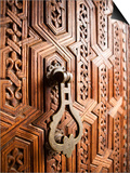 Door Detail, Musee De Marrakesh, Place Ben Youssef Prints by Huw Jones