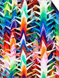 Colourful Paper Cranes at Fushimi Inari Shrine Posters by Rachel Lewis
