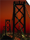 Bay Bridge from Treasure Island, San Francisco, California, USA Prints by Roberto Gerometta
