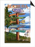 Bermuda - Sign Destinations Poster