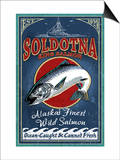 Soldotna, Alaska - Salmon Poster by  Lantern Press