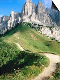 Sello Massif, Passo Gardena, Dolomites, Dolomiti di Sesto Natural Park, Trentino-Alto-Adige, Italy Art by John Elk III