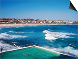 Overhead of Bondi Icebergs Pool and Bondi Beach Prints by Holger Leue