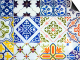 Detail of Antique Portuguese Tiles Art by Viviane Ponti