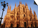 Facade of the Cathedral, Milan, Italy Prints by Witold Skrypczak