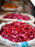 Dried Red Chillies at Spice Market Poster by Huw Jones