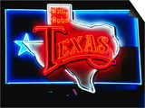 Neon Sign, Billy Bob's Texas Honky Tonk, Fort Worth, Texas Prints by Holger Leue