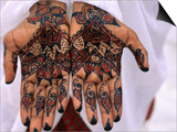 Person Displaying Henna Hand Tattoos, Djibouti, Djibouti Prints by Frances Linzee Gordon
