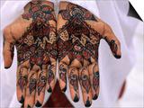 Person Displaying Henna Hand Tattoos, Djibouti, Djibouti Prints by Frances Linzee Gordon