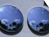 A Mirrored View of Palms in the South Beach Art-Deco District, Miami, Florida, USA Art by Lawrence Worcester