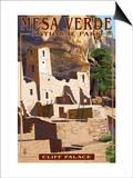 Mesa Verde National Park, Colorado - Cliff Palace Art by  Lantern Press