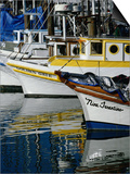 Fishing Boats at Fishermans Wharf, San Francisco, California, USA Print by Roberto Gerometta