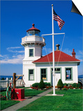 Mukilteo Lighthouse, Mukilteo, Washington Posters by John Elk III
