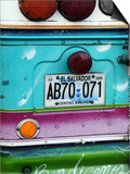 Detail of Numberplate at Back of 'Chicken Bus', Most Common Transport in El Salvador Prints by Paul Kennedy