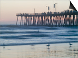 Pier at Sunset, Pismo Beach, California Prints by Brent Winebrenner
