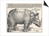 The Indian Rhinoceros is the Largest of the Asian Spiecies Print by Albrecht Dürer