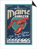 Lobster - Bar Harbor, Maine Posters by  Lantern Press
