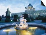 Exterior of National Opera House, Vienna, Austria Print by Richard Nebesky