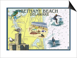 Bethany Beach, Delaware - Nautical Chart Print by  Lantern Press