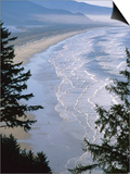 Manzanita Beach, Seen from Neahkahnie Mountain, Oregon Poster by John Elk III