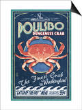 Poulsbo, Washington - Dungeness Crab Poster by  Lantern Press