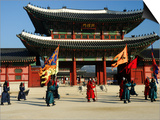 Gyeongbokgung Palace Changing of the Guard, Gwanghwamun, Seoul, South Korea Prints by Anthony Plummer
