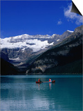 Canoeing Lake Louise in the Canadian Rockies, Lake Louise, Alberta, Canada Posters by Jan Stromme