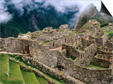 Overview of Terraced Royal Inca Ruins, Machu Picchu, Peru Prints by Jeffrey Becom