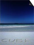 White Sand Beach at Cayo Coco Keys, Ciego De Avila, Cuba Posters by Alfredo Maiquez