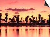 Mission Bay at Sunset, San Diego, California Print by Richard Cummins