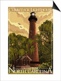 Currituck Lighthouse - Outer Banks, North Carolina Print