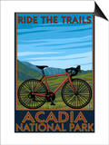 Acadia National Park, Maine - Bicycle Scene Posters by  Lantern Press