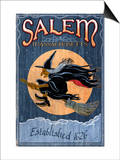 Salem, Massachusetts - Witch Prints by  Lantern Press
