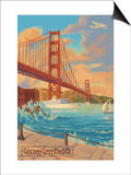 Golden Gate Bridge Sunset - 75th Anniversary - San Francisco, CA Posters by  Lantern Press