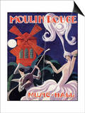 1924 Moulin Rouge Programme Posters by Edouard Halouze