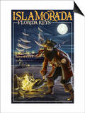 Islamorada, Florida Keys - Pirate and Treasure Posters by  Lantern Press
